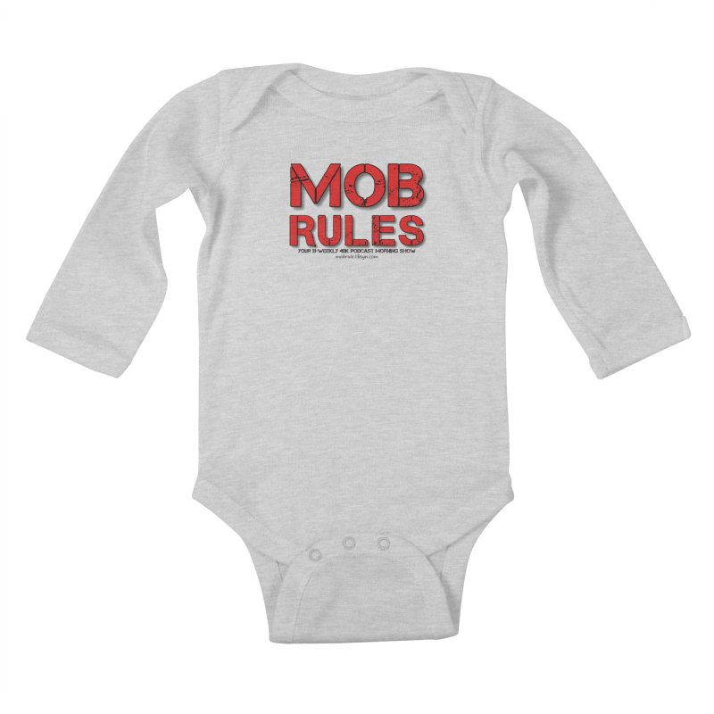 Mob Rules Logo Text Kids Baby Longsleeve Bodysuit by Mob Rules Podcast