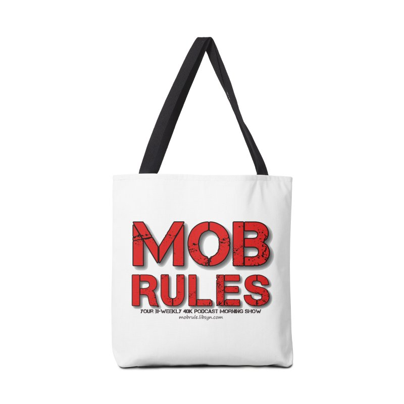 Mob Rules Logo Text Accessories Bag by Mob Rules Podcast