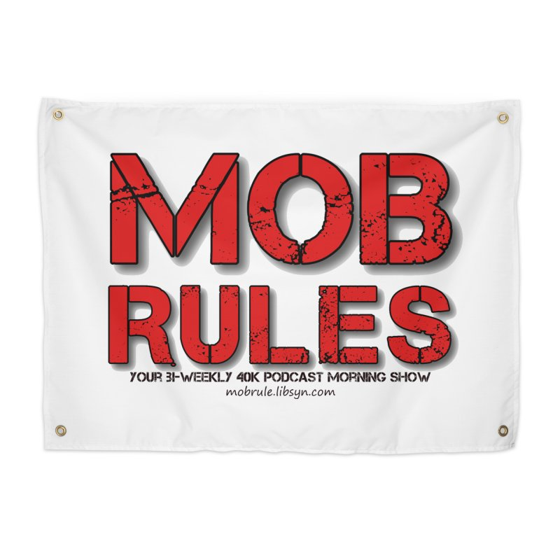 Mob Rules Logo Text Home Tapestry by Mob Rules Podcast