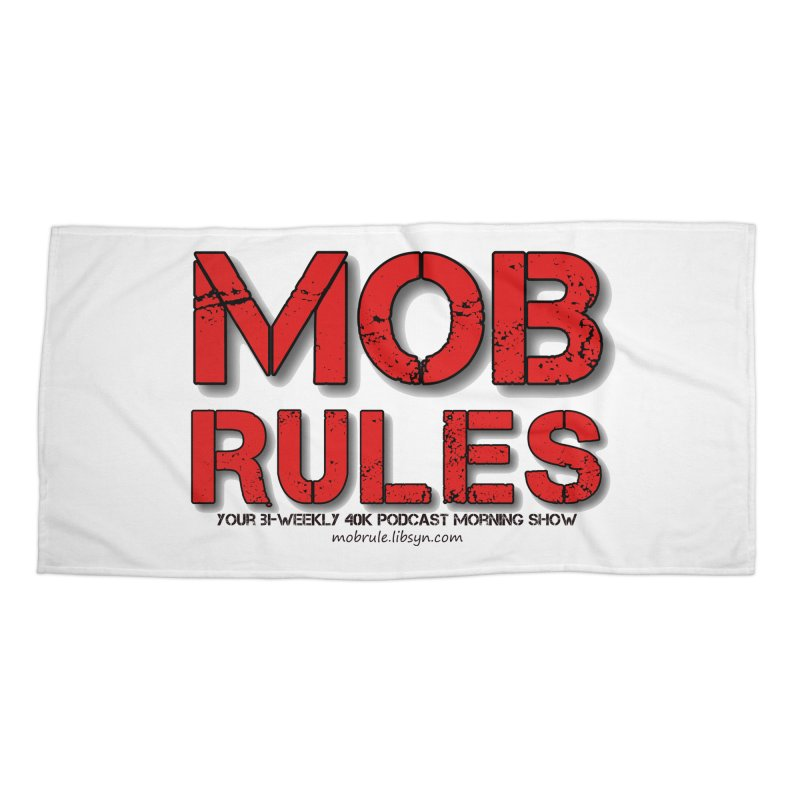 Mob Rules Logo Text Accessories Beach Towel by Mob Rules Podcast