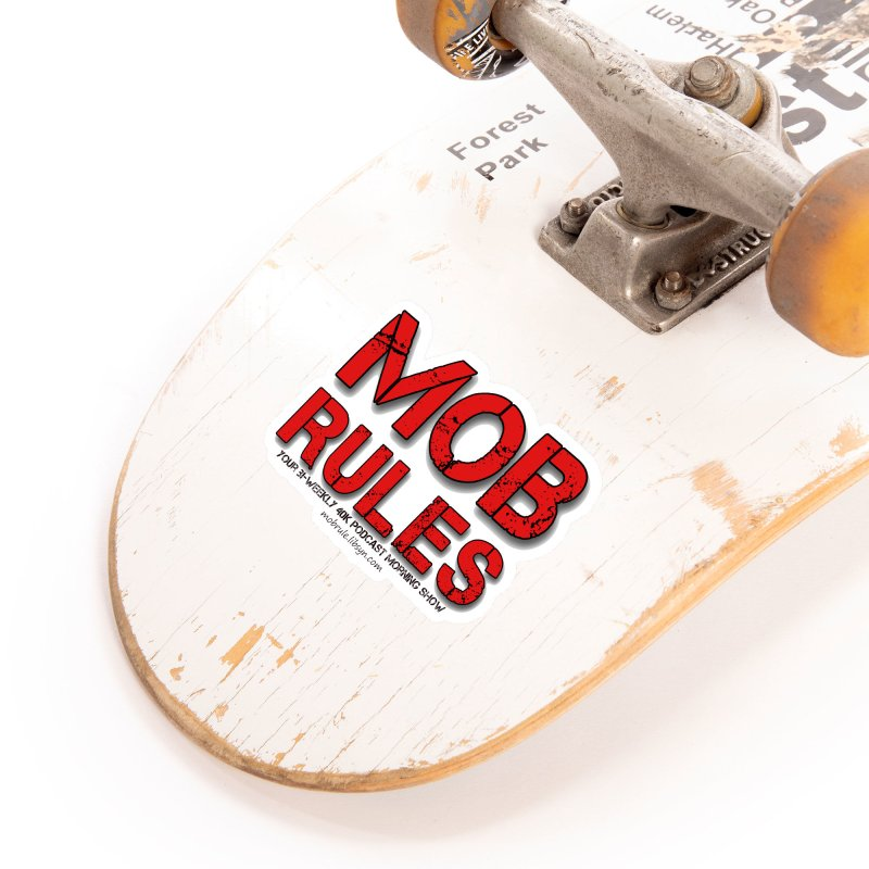 Mob Rules Logo Text Accessories Sticker by Mob Rules Podcast