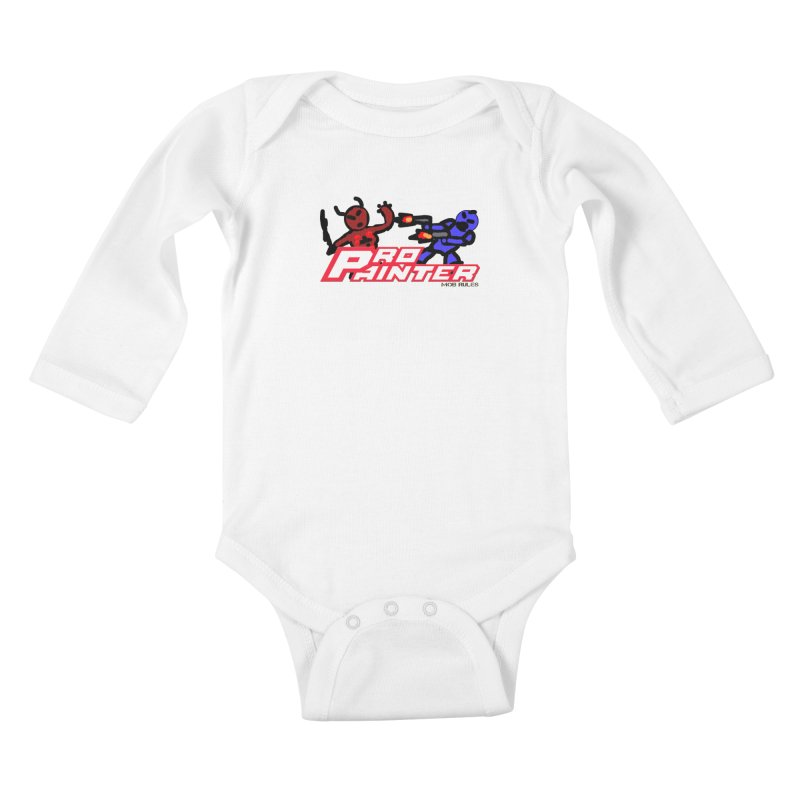 Pro Painter Kids Baby Longsleeve Bodysuit by Mob Rules Podcast