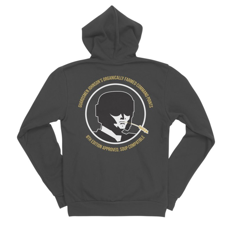 Guardsman Johnson's Organically Farmed Command Points Women's Sponge Fleece Zip-Up Hoody by Mob Rules Podcast