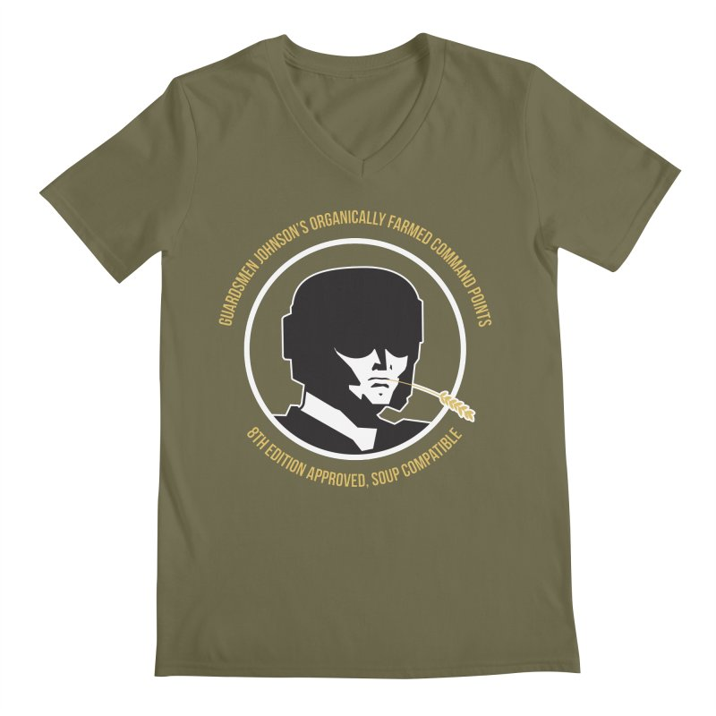 Guardsman Johnson's Organically Farmed Command Points Men's Regular V-Neck by Mob Rules Podcast