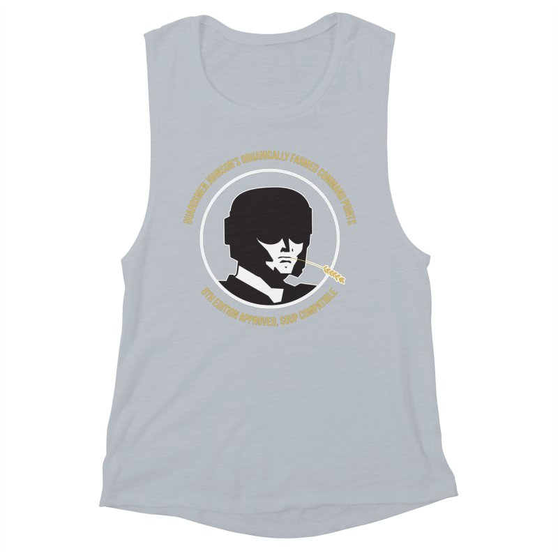 Guardsman Johnson's Organically Farmed Command Points Women's Muscle Tank by Mob Rules Podcast