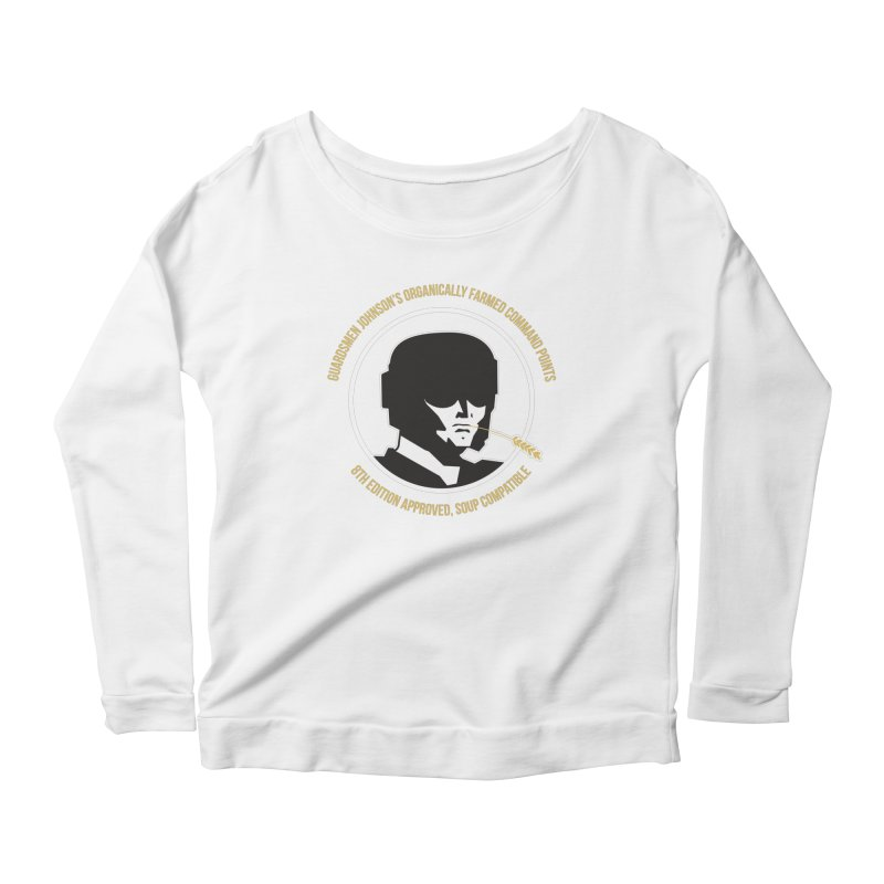 Guardsman Johnson's Organically Farmed Command Points Women's Scoop Neck Longsleeve T-Shirt by Mob Rules Podcast