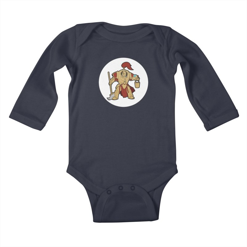 Jeff the Custodes 2.0 Kids Baby Longsleeve Bodysuit by Mob Rules Podcast