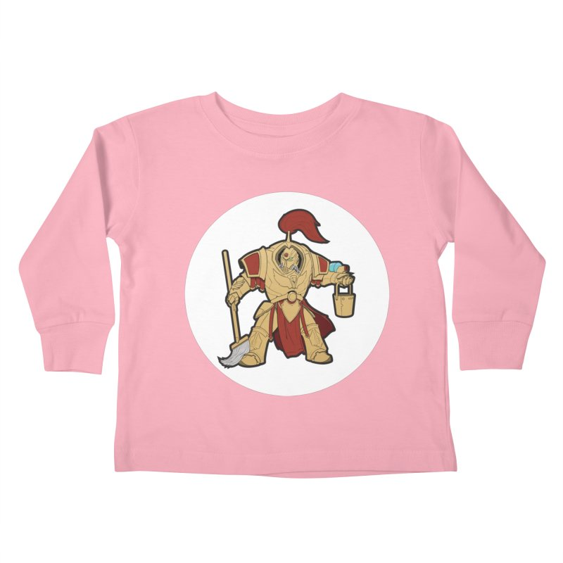 Jeff the Custodes 2.0 Kids Toddler Longsleeve T-Shirt by Mob Rules Podcast