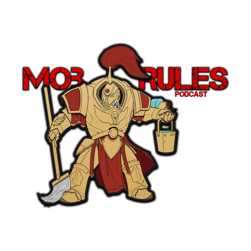 Jeff the Custodes 2.0 Mob Rules Logo Home Rug by Mob Rules Podcast
