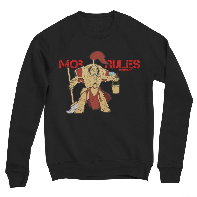 Jeff the Custodes 2.0 Mob Rules Logo Men's Sponge Fleece Sweatshirt by Mob Rules Podcast
