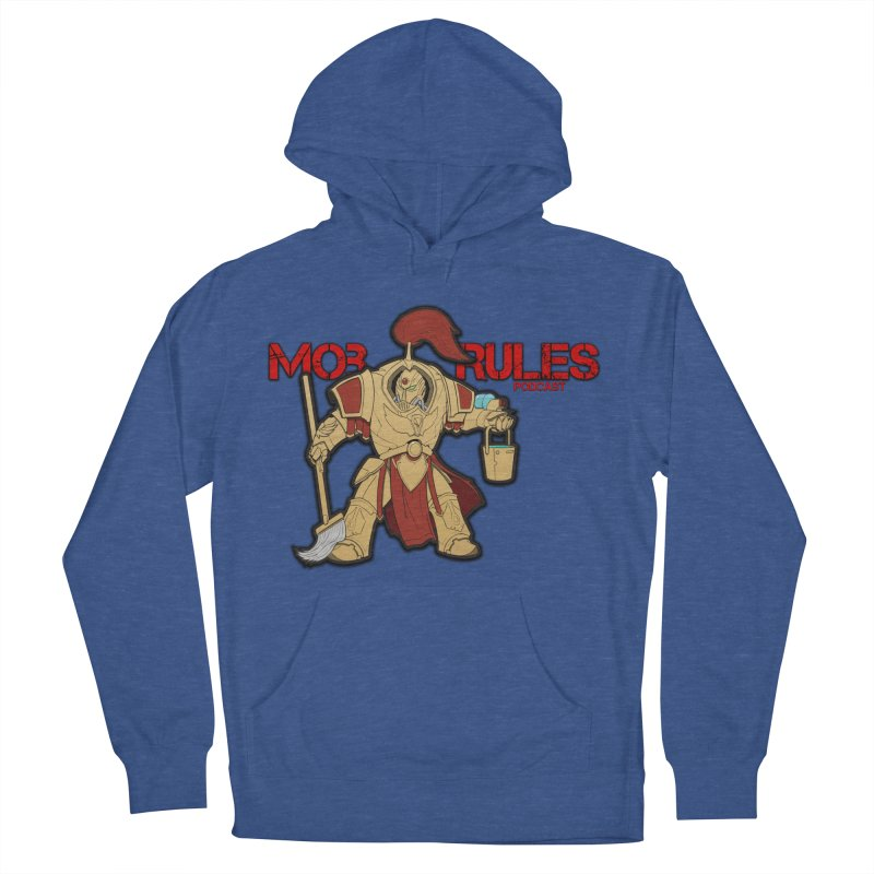 Jeff the Custodes 2.0 Mob Rules Logo Men's French Terry Pullover Hoody by Mob Rules Podcast