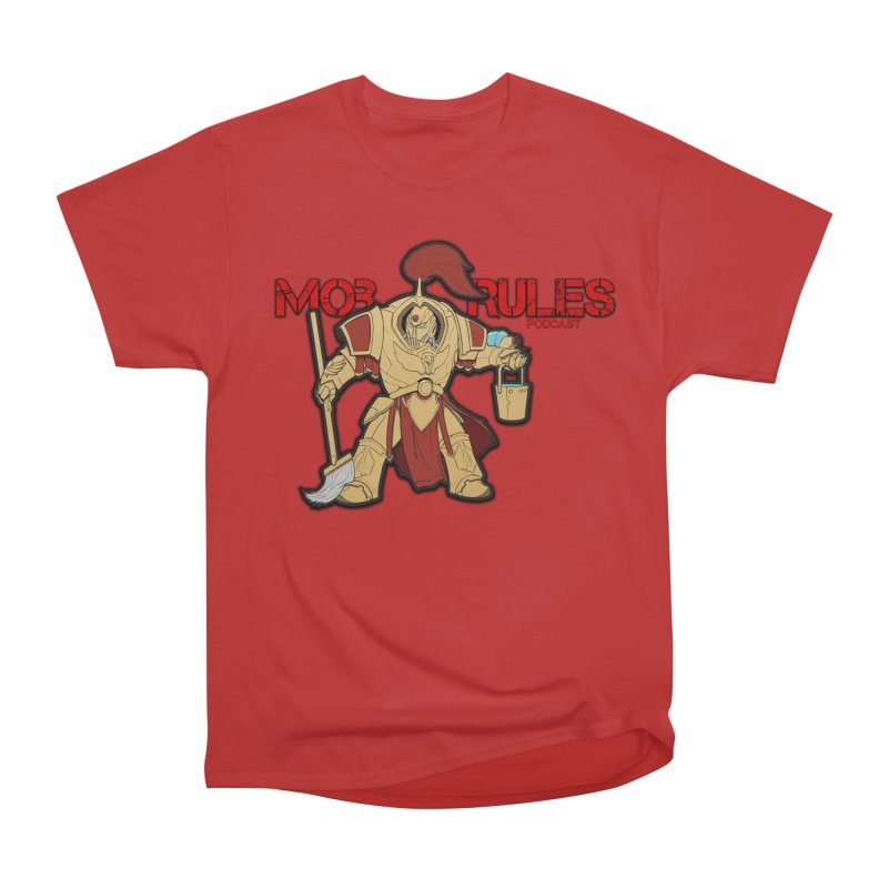 Jeff the Custodes 2.0 Mob Rules Logo Women's Heavyweight Unisex T-Shirt by Mob Rules Podcast