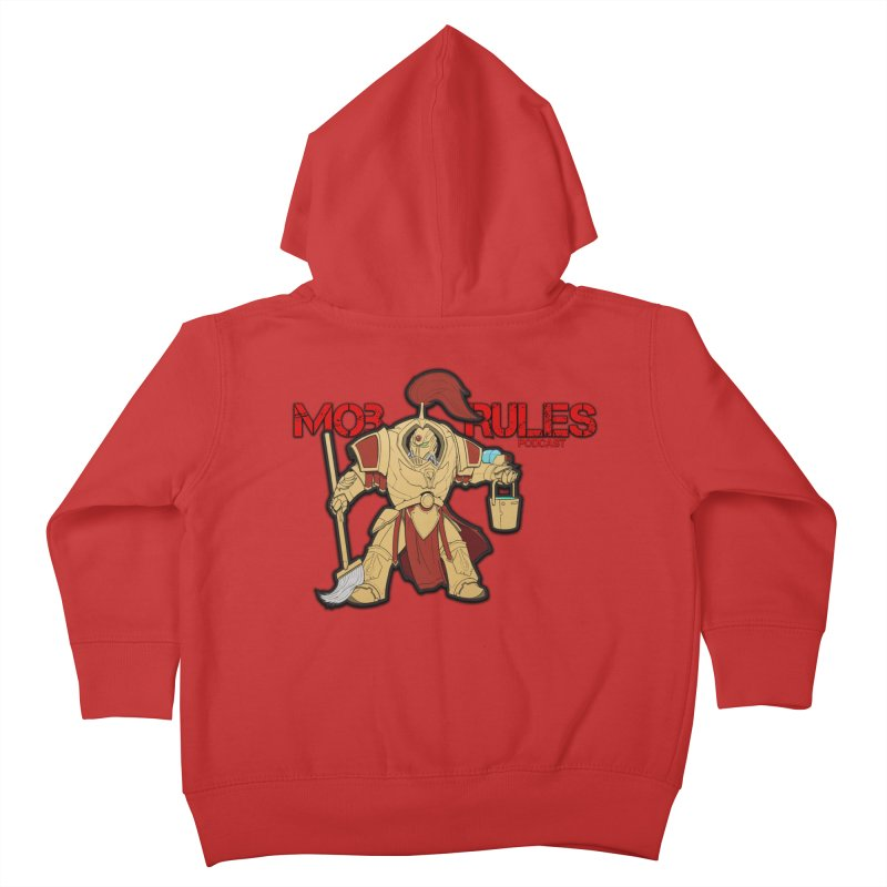 Jeff the Custodes 2.0 Mob Rules Logo Kids Toddler Zip-Up Hoody by Mob Rules Podcast
