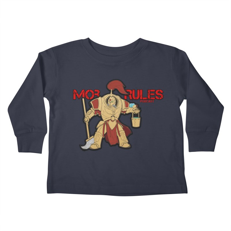 Jeff the Custodes 2.0 Mob Rules Logo Kids Toddler Longsleeve T-Shirt by Mob Rules Podcast