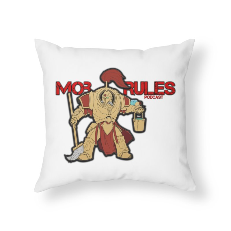 Jeff the Custodes 2.0 Mob Rules Logo Home Throw Pillow by Mob Rules Podcast