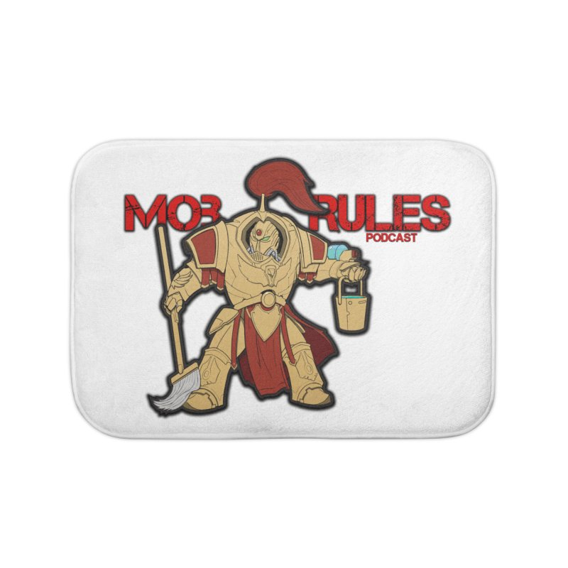 Jeff the Custodes 2.0 Mob Rules Logo Home Bath Mat by Mob Rules Podcast
