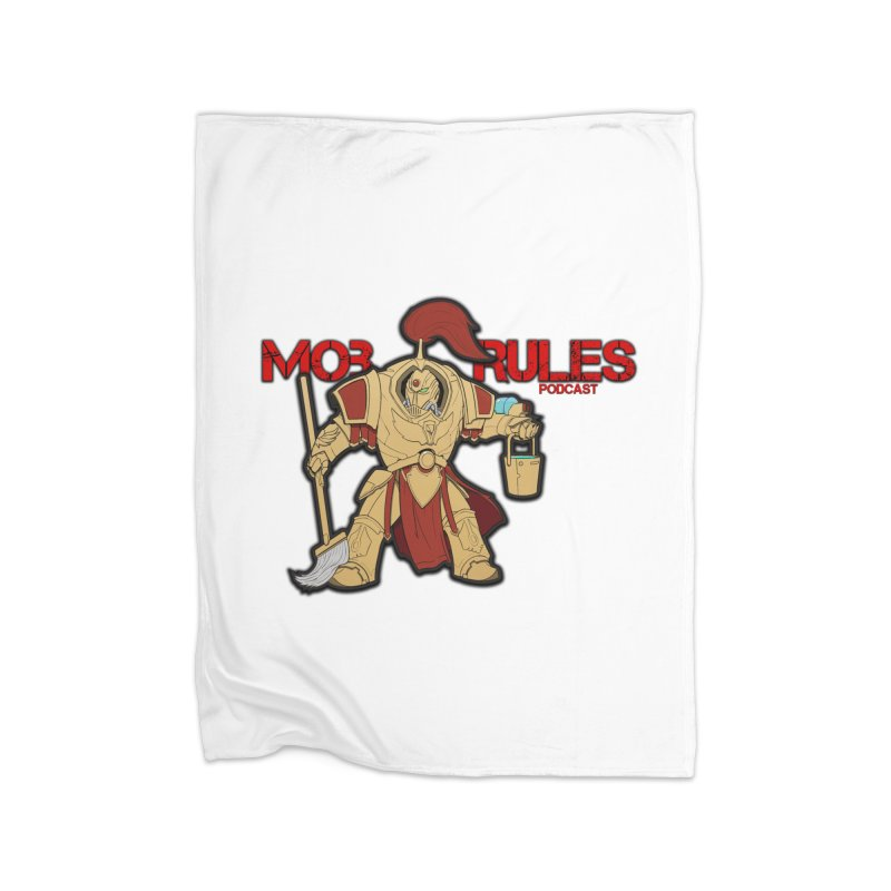 Jeff the Custodes 2.0 Mob Rules Logo Home Fleece Blanket Blanket by Mob Rules Podcast