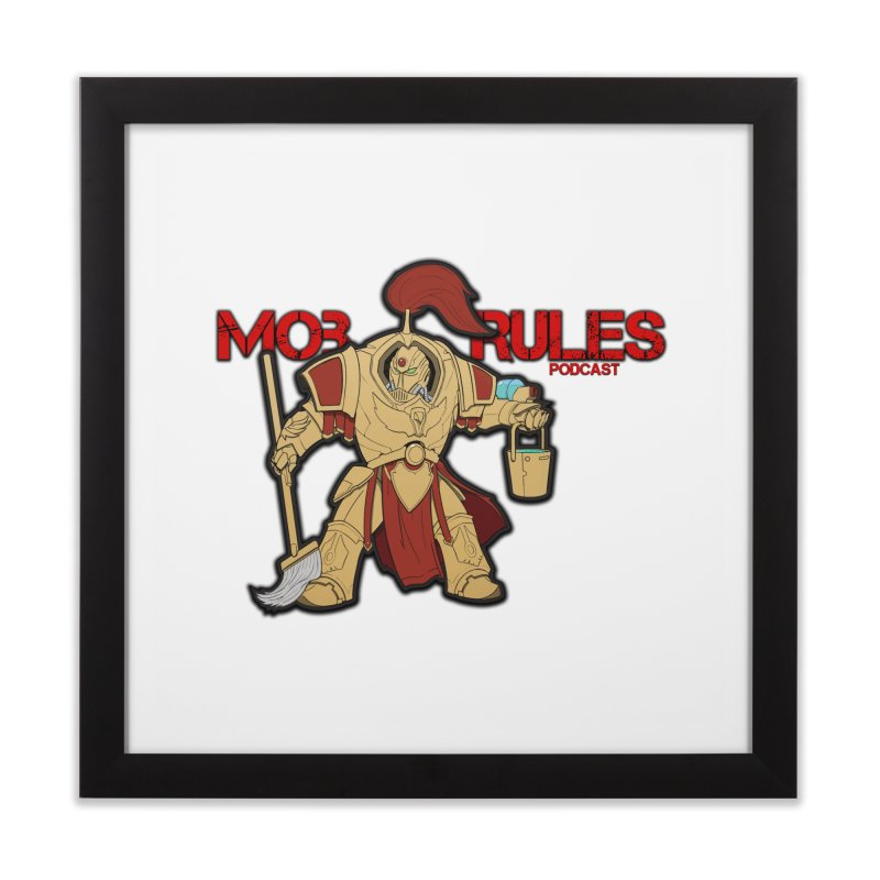 Jeff the Custodes 2.0 Mob Rules Logo Home Framed Fine Art Print by Mob Rules Podcast