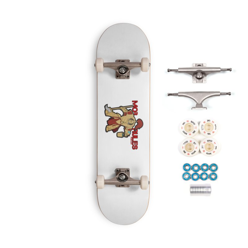 Jeff the Custodes 2.0 Mob Rules Logo Accessories Complete - Premium Skateboard by Mob Rules Podcast