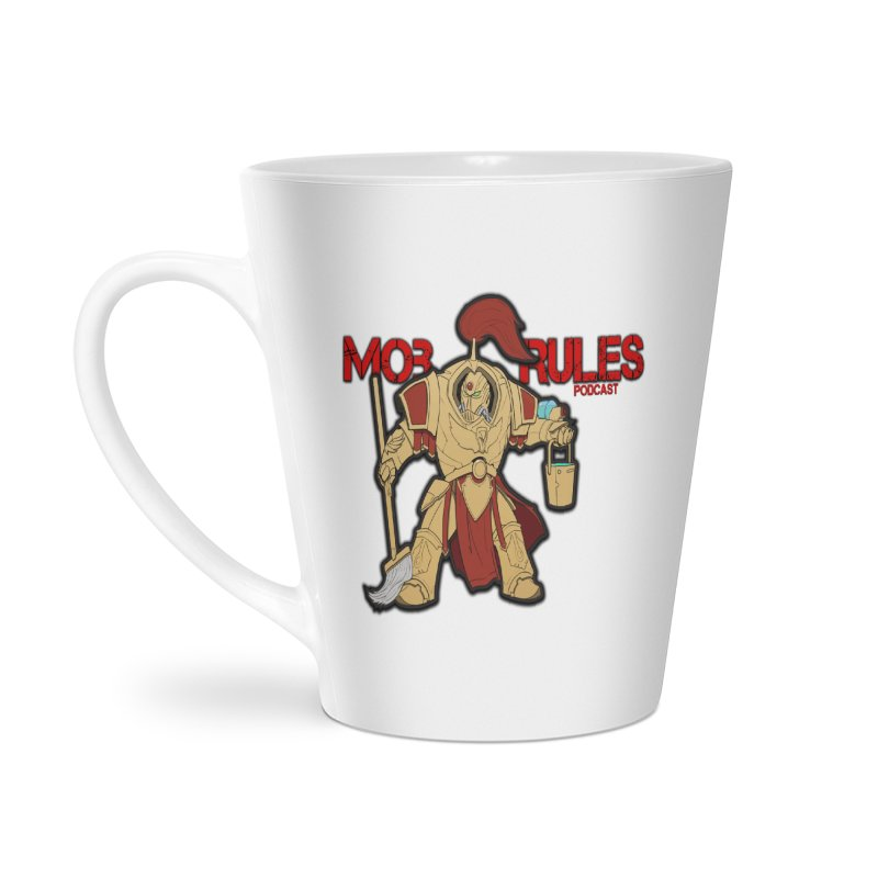 Jeff the Custodes 2.0 Mob Rules Logo Accessories Latte Mug by Mob Rules Podcast
