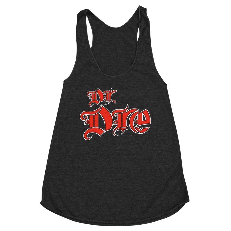 Rainbow in da Hood - Dio Dre Women's Racerback Triblend Tank by Mock n' Roll