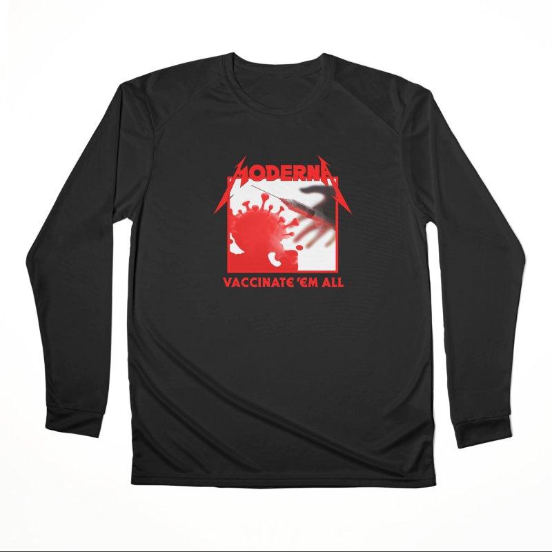 Moderna-Vaccinate 'Em All Men's Longsleeve T-Shirt by Mock n' Roll