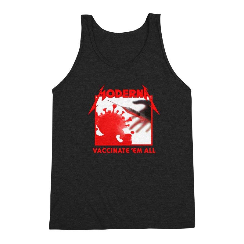 Moderna-Vaccinate 'Em All Men's Tank by Mock n' Roll