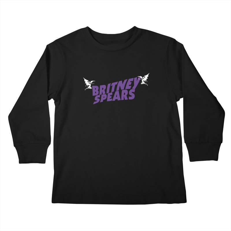 Britney Sabbath Angels Kids Longsleeve T-Shirt by Mock n' Roll