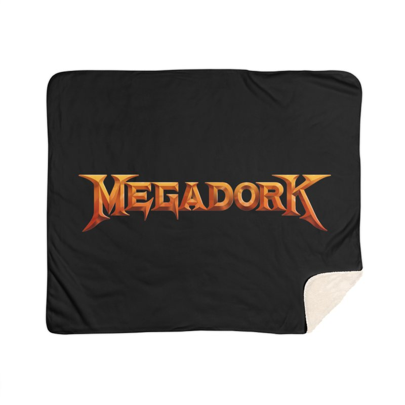 Megadork Home Sherpa Blanket Blanket by Mock n' Roll