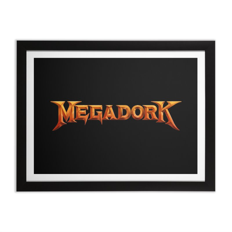 Megadork Home Framed Fine Art Print by Mock n' Roll