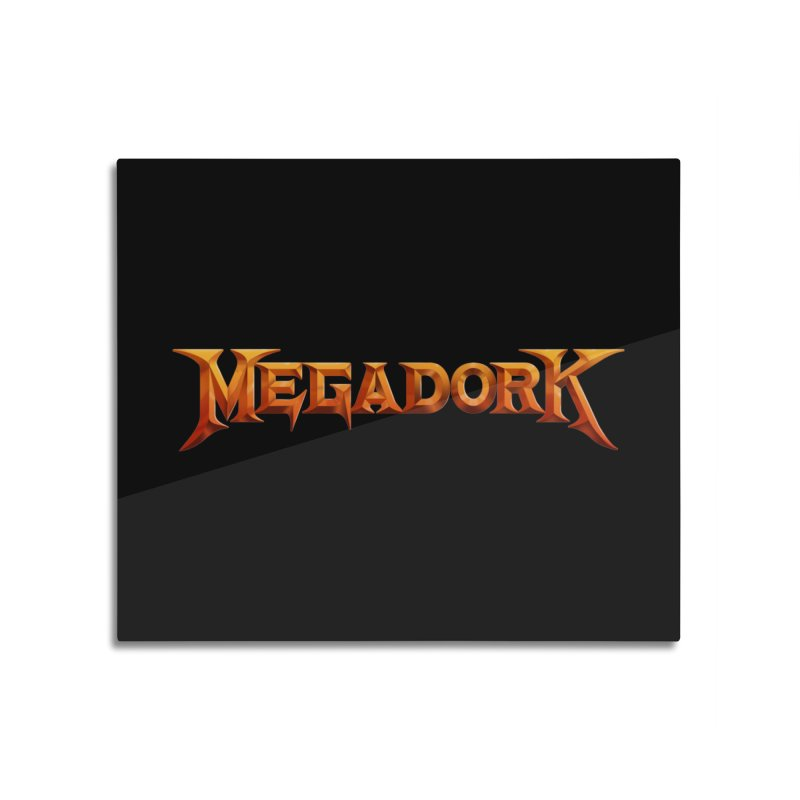 Megadork Home Mounted Aluminum Print by Mock n' Roll