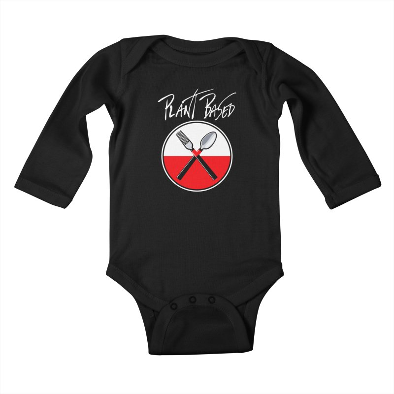 Plant Floyd-Wish you were Vegan Kids Baby Longsleeve Bodysuit by Mock n' Roll