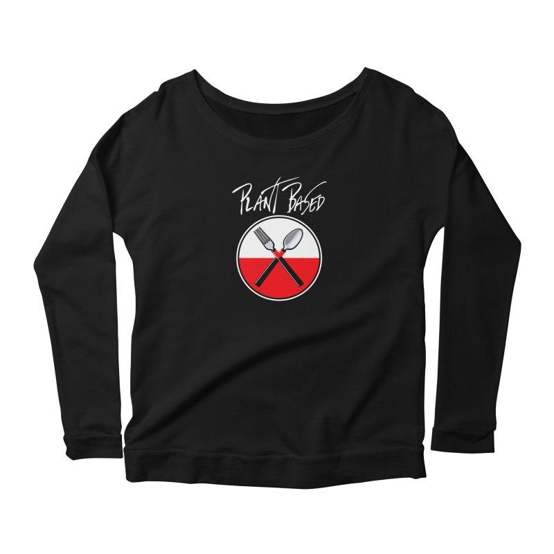 Plant Floyd-Wish you were Vegan Women's Scoop Neck Longsleeve T-Shirt by Mock n' Roll
