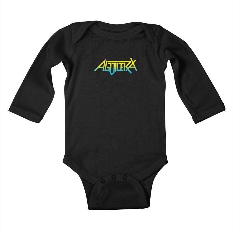 Aguilera color Kids Baby Longsleeve Bodysuit by Mock n' Roll