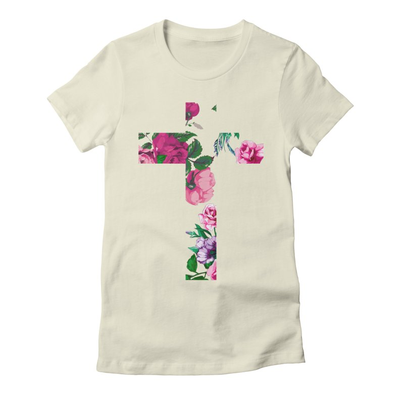 CRSSxFLWR Women's Fitted T-Shirt by moda's Artist Shop