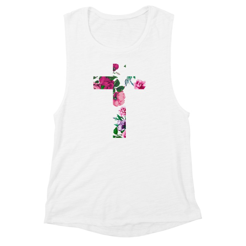 CRSSxFLWR Women's Muscle Tank by moda's Artist Shop