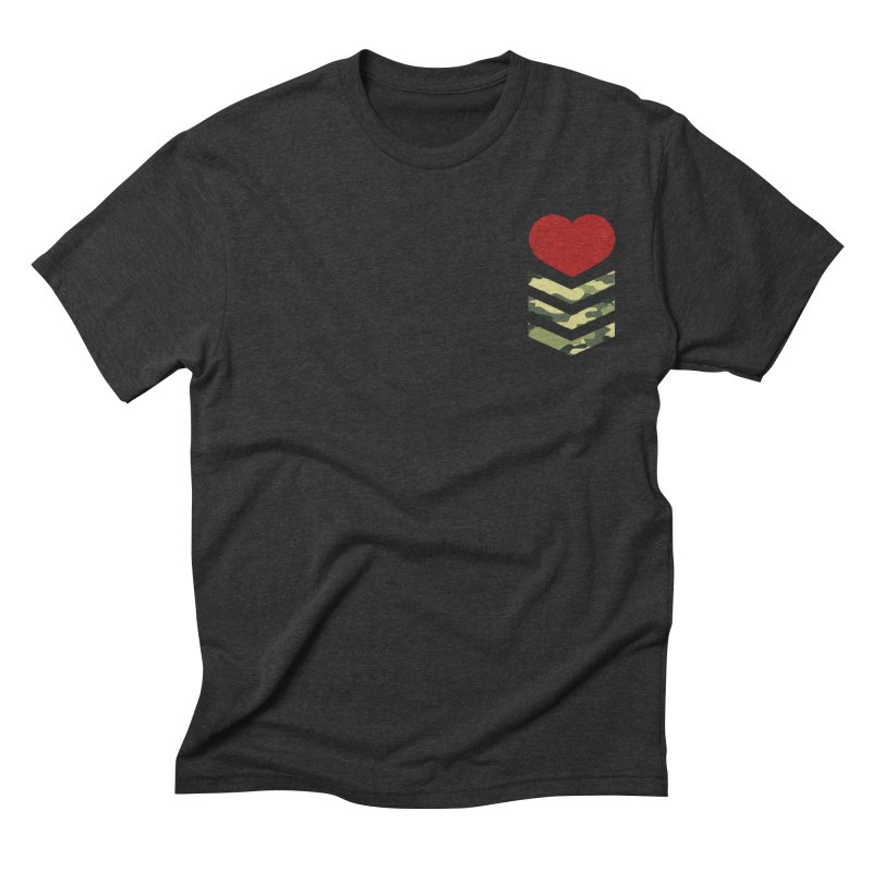 Soldier of Love (Series 1) in Men's Triblend T-shirt Heather Onyx by moda's Artist Shop