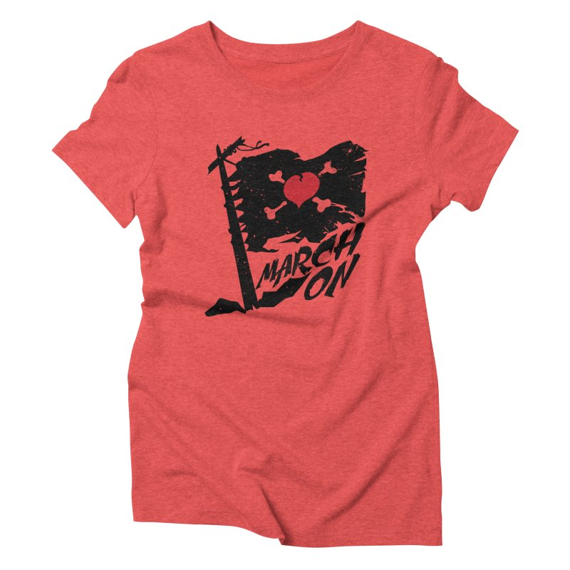 Soldier of Love (Series 3) - MARCH ON Women's Triblend T-shirt by moda's Artist Shop
