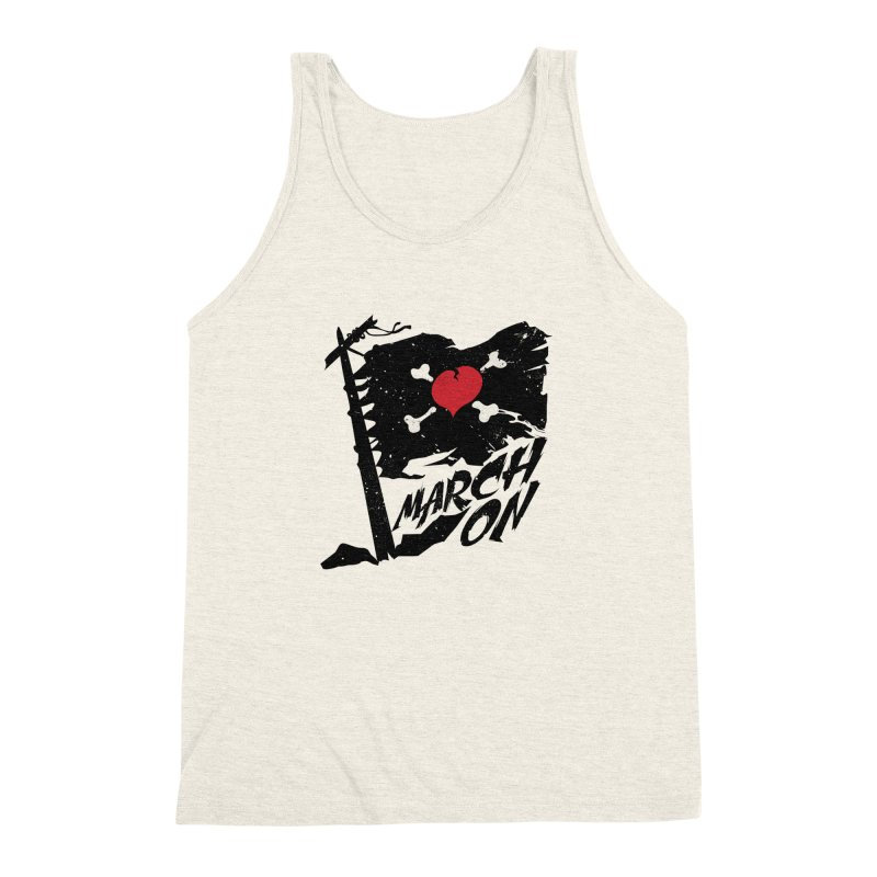Soldier of Love (Series 3) - MARCH ON Men's Triblend Tank by moda's Artist Shop