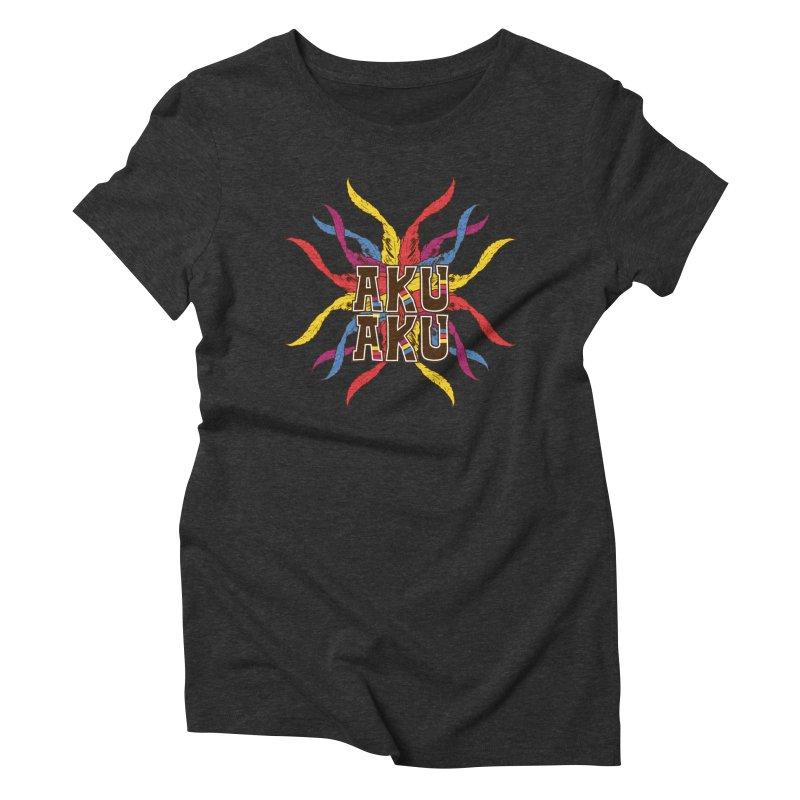 AKU AKU Women's Triblend T-Shirt by moda's Artist Shop