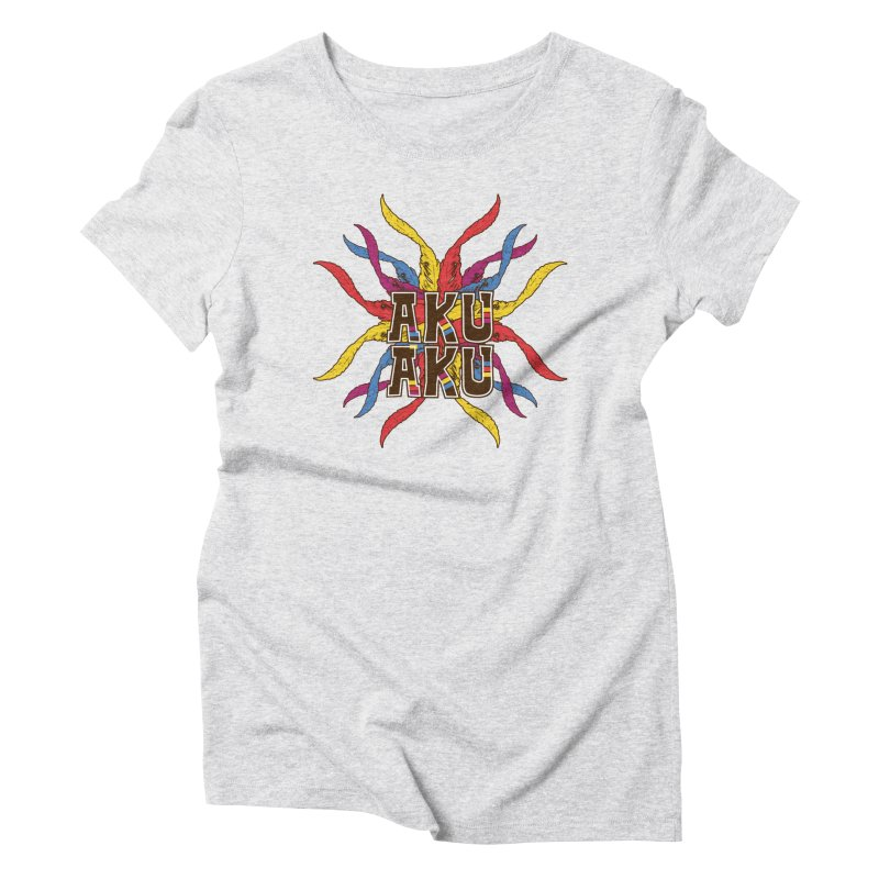 AKU AKU Women's Triblend T-Shirt by moda's Artist Shop