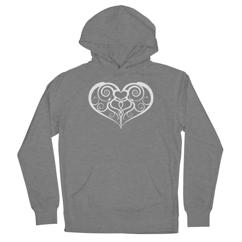 Tendril Hearts (White) Women's Pullover Hoody by The Modern Goldfish Shop