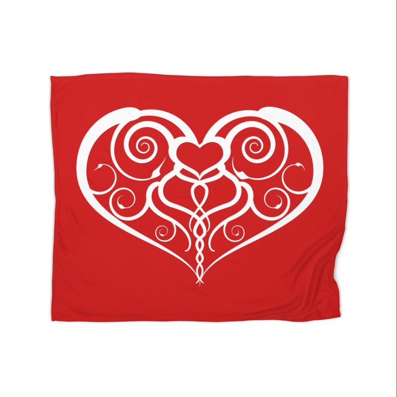 Tendril Hearts (White) Home Blanket by The Modern Goldfish Shop
