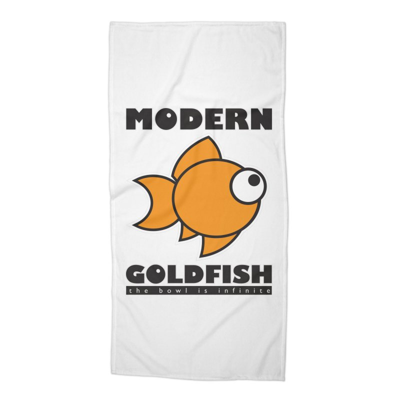 Modern Goldfish Accessories Beach Towel by The Modern Goldfish Shop
