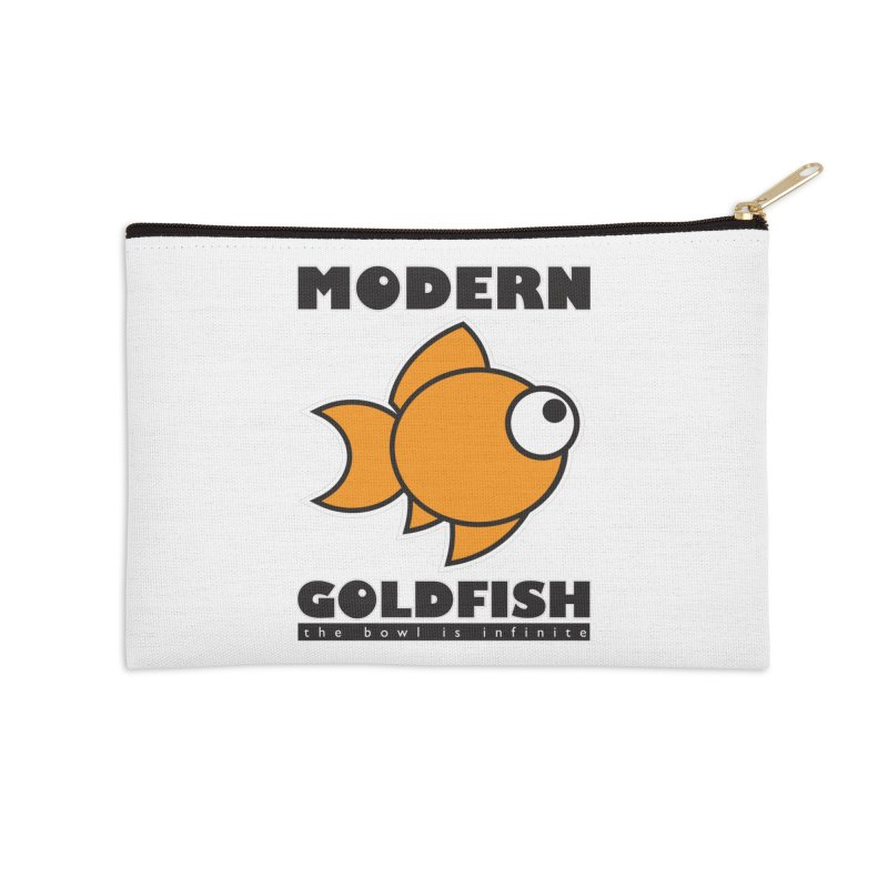 Modern Goldfish Accessories Zip Pouch by The Modern Goldfish Shop