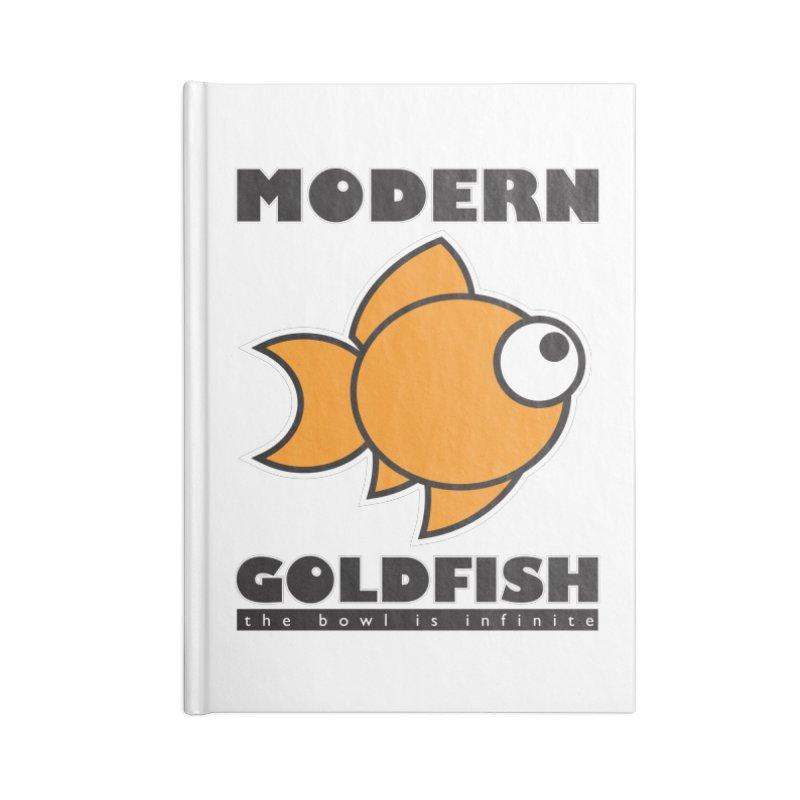 Modern Goldfish Accessories Notebook by The Modern Goldfish Shop