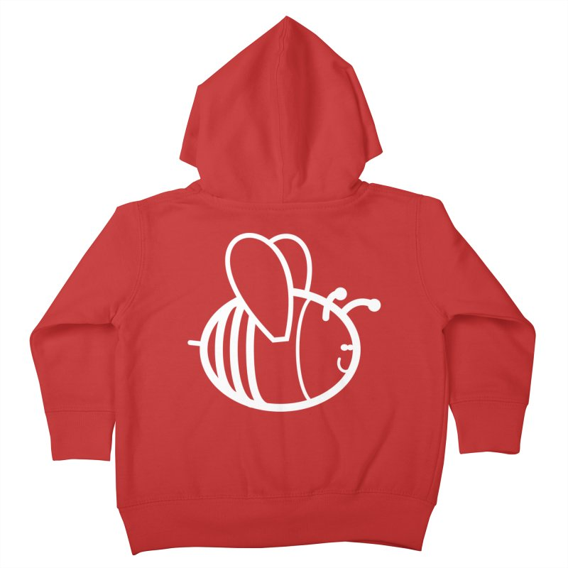 Happy Bee (White) Kids Toddler Zip-Up Hoody by The Modern Goldfish Shop