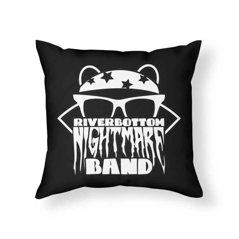 Riverbottom Nightmare Band Home Throw Pillow by The Modern Goldfish Shop