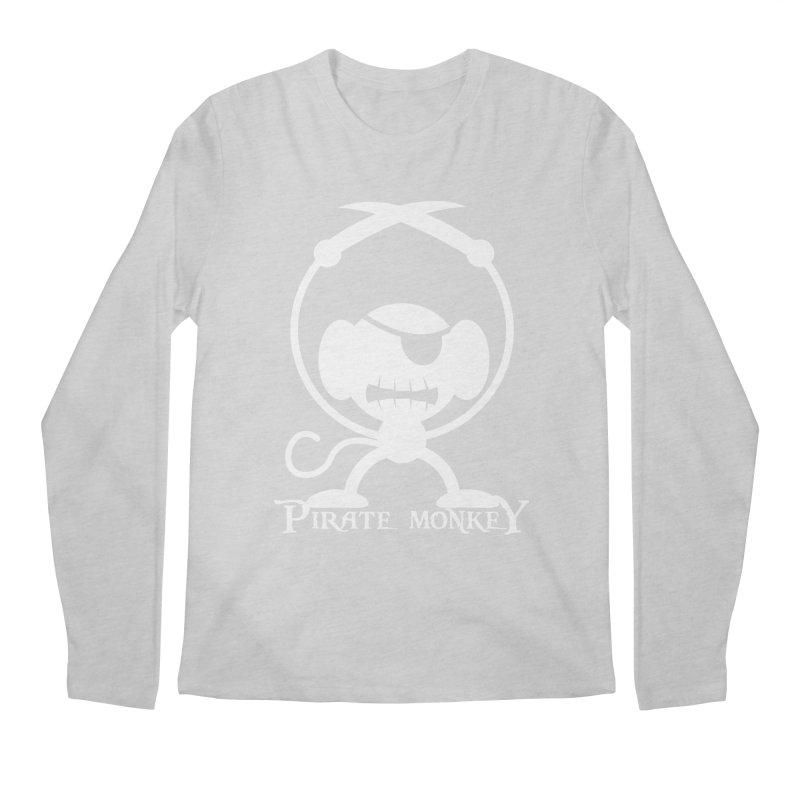 Pirate Monkey! (white) Men's Regular Longsleeve T-Shirt by The Modern Goldfish Shop