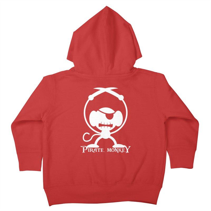 Pirate Monkey! (white) Kids Toddler Zip-Up Hoody by The Modern Goldfish Shop